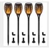 Solarleuchten für außen 4 Stück Solarfackeln Flammenlicht Gartenfackeln mit wasserdicht IP65, automatisch Ein/Aus Solarlampe für aussen Garten Balkon Hof Korridor Weg