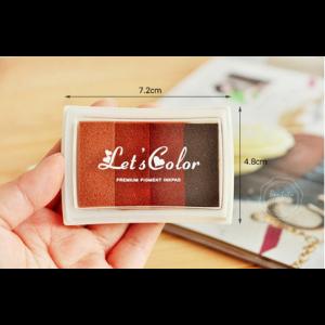 24 Farben Finger Stempelkissen Bunt Stamp Pad für Papier Handwerk Stoff