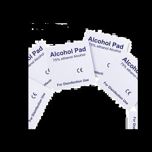 Alkoholtücher Taschenfeuchtetücher Reinigungstücher 100pcs für Händen