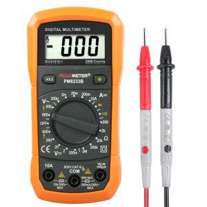 Multimeter Spannungsprüfer Prüfvorrichtung Tester Amperemeter Tragbar
