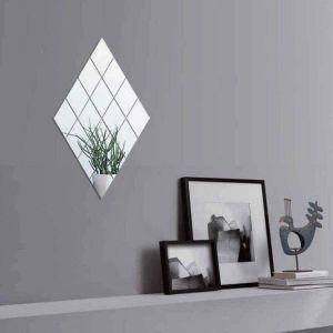 10 Stück Spiegel Selbstklebende Fliesen Spiegel Wandaufkleber für Wand
