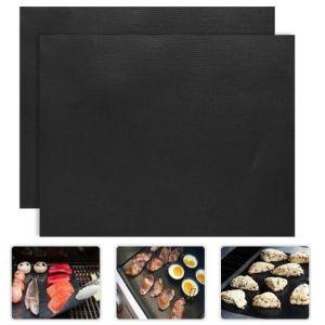 Grillmatte BBQ Backmatte Grillfolie Antihaft zum Backen 40x33cm 5pcs