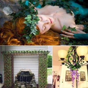 Efeugirlande Künstlich Hängende Rebe Pflanzen für Hochzeit Party 12pcs