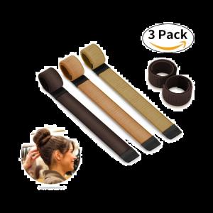Hair Bun Dutt Maker Haarclip Hairstyle Tools für Damen 21.5cm 3 pcs