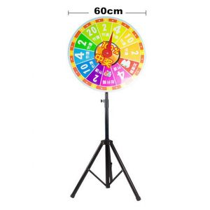 Glücksrad Wheel of fortune 60cm mit Metallstativ Ständer bis 170cm