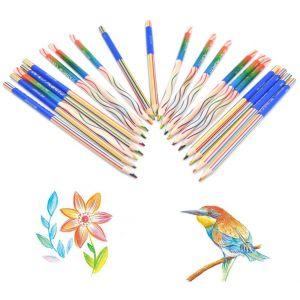 4in1 Regenbogen Farbstift Regenbogenfarben Buntstift Zauberstift 30er