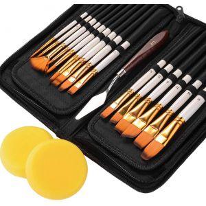 18 Stück Kosmetik Make-up Werkzeuge Kosmetik Make up Pinsel Set