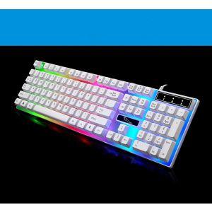 Gaming Tastatur RGB USB PC Keyboard für Gamer Maschinenschreiber