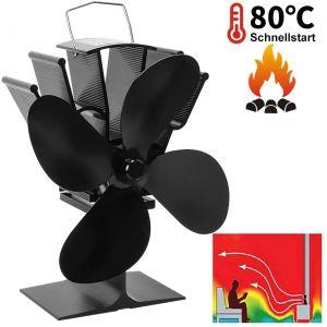 Ofenventilator Kaminventilator Kaminlüfter Stromloser Ventilator