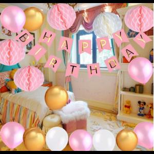 Geburtstag Dekoration Geburtstagsdeko Ballon Happy Birthday 104pcs