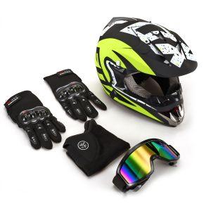 Motorradhelm Endurohelm Crosshelm Motorrad Roller Sturz Helm Brille