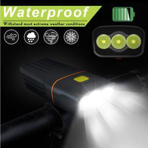 LED Fahrradlicht Set Fahrradlampe 3 Modi Wiederaufladbar USB Fahrradbeleuchtung IPX5 wasserdicht für Licht Mountainbike & Fahrrad
