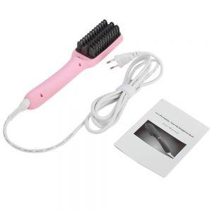 Haarbürste Haarglätter Bürste Haarpflege Straightener Hair Brush 2in1