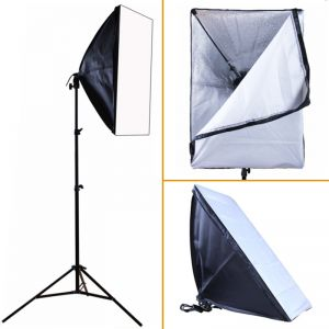 Softbox Dauerlicht Fotostudio Studioleuchte Set 50x70cm Fotostudio