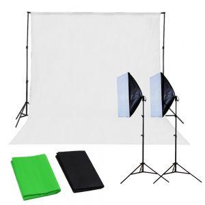 Fotostudio Set Studioleuchte Studioset Hintergrundsystem Lampe Softbox