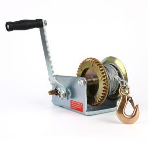 Handseilwinde Seilzug mit Handkurbel 10m 450kg//1000LB Seilwinde Bootswinde NEU