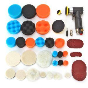 Poliermaschine Auto Polieren Maschine Kit 48Stk,Polierschwamm Wollscheibe zum Polieren von Holzmöbel Fliesen Autolack