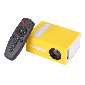 Mini LED Projektor Heimkino tragbar 1080P LED mini Projector Unterstützung für HDMI AV USB 16: 9/4: 3 Filmprojektor