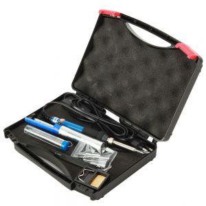 Lötkolben Eletronisch Entlötpumpe Lötzinn Pinzette mit Koffer Set 7in1