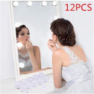 Spiegellampe LED Make-up Lampe Licht Schminklicht Spiegelleuchte 12pcs
