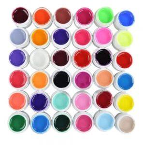 UV Nagelgel Farbgel Glitter Nail Art Pailletten Nagelstudio 72 Farben
