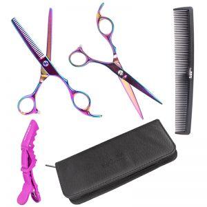 Friseurschere Haarscheren Set Effilier Modellierschere Rasiermesser
