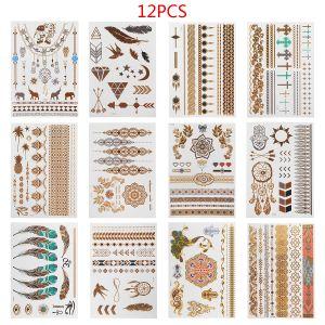 Tattoo Aufkleber Tattoos Sticker Temporäre Körper Klebe 12pcs Set