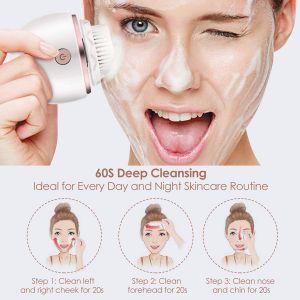 Gesichtsbürste Reinigungs Bürste 3 Vibrationsmodi für Gesichtsreinigung