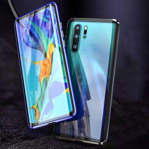 Huawei P30 pro Hülle Gehärtetes Glas Transparente Handyhülle Cover