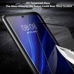 Huawei P30 pro Schutzhülle Metall Flip Cover Handyhülle Case
