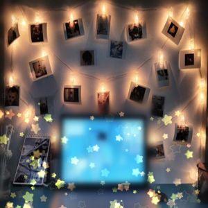 Lichterkette Foto Stimmungsbeleuchtung Dekoration für Zimmer 20 Clips