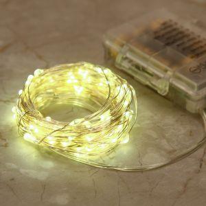 100 LED Lichterkette Kette Batteriebetrieben Leuchte Beleuchtung