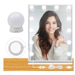 LED Schminklicht Schminkleuchte für Spiegel, LED Spiegelleuchte Hollywood Stil Schminktisch Spiegel Lichter Set