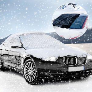 Frontscheibe Abdeckung Auto Scheibenabdeckung Winterschutz 183x116cm