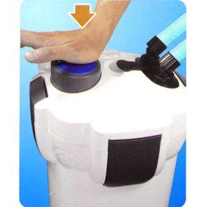 Aussenfilter Kammerfilter Filtermaterial für Aquarium 1400L/h 2m