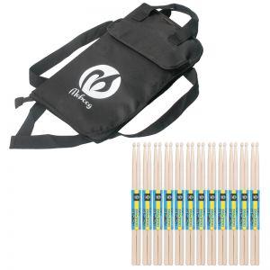 Trommelstöcke 7A Drumsticks Holz mit Tasche für Schlagzeuge 12paar
