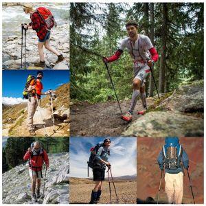 Wanderstöcke Trekkingstöcke Walking Stöcke Aluminium 65-135cm 1 Paar
