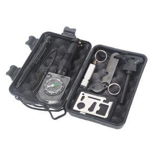 Survival Kit Notfall Überleben Selbsthilfe Zubehör Werkzeuge Box 10in1