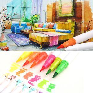 Pinselstift Buntstifte Stifte Brush Pen Set Wasserfarben 60 Farben