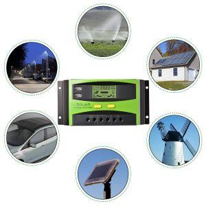 Solarregler Solarladeregler Solarpanel Regler Stromanzeige LCD Display