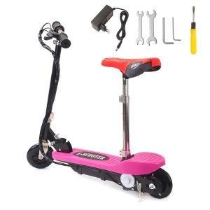 Elektroscooter E-Scooter Roller Elektro Bremsen mit Sitz bis 80kg 100W