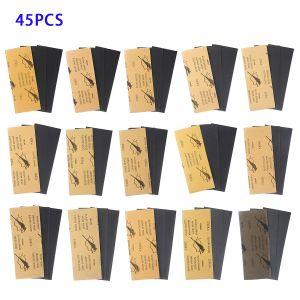 Schleifpapier Nassgitter Sortiment Set 45Pcs f. Schleifen 3.6 x 9 zoll