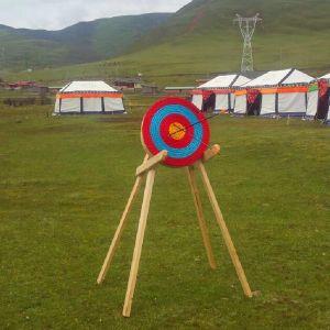Bogenschiessen Traditionelles handgemachtes festes Stroh rundes Ziel