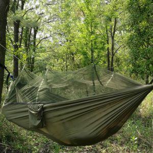 Outdoor Hängematte Hängeschaukel 260x140cm mit Aufhängeset für Garten