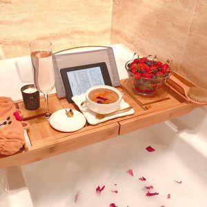 Badewanne Laptop Bett Schreibtisch Bambus für Bücher oder Tablets
