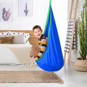 Hängematte Kindersitz Hängehöhle Hängesessel inkl. Kissen für Kinder