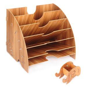 Briefablage Ablagekorb A4 Papierablage Ablagefächer für Büro aus Holz