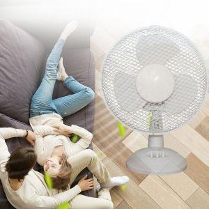 Luftkühler Ventilator Tischventilator Fan mit 2 Leistungsstufen 30W