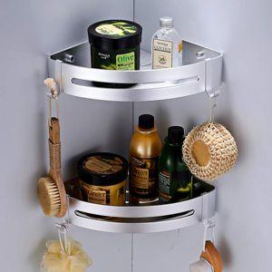 Badezimmer Duschregal Duschkabine Eckregal Aluminium Duschablage