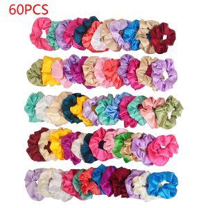 Haarbänder 60er Pferdeschwanz Scrunchie Einfarbig Traceless Haarseil